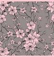 sakura branches seamless pattern vector image vector image
