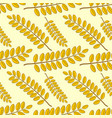 seamless pattern with acacia autumn leaves vector image vector image