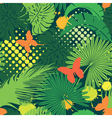 Seamless pattern with palm trees leaves and butter vector image vector image
