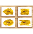 set of Golden banners vector image