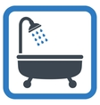 Shower Bath Flat Icon vector image