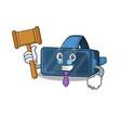 Smart judge vr virtual reality in mascot cartoon