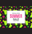 summer sale concept vector image vector image