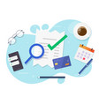 tax audit accounting office concept with financial vector image vector image