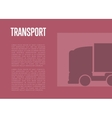 Transport banner with truck silhouette vector image vector image