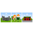 travel to ireland vector image vector image