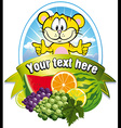 tropical fruit label vector image vector image
