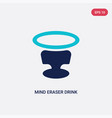 two color mind eraser drink icon from drinks vector image vector image