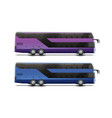two double-decker buses vector image