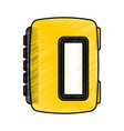 walkman cassette player icon vector image vector image