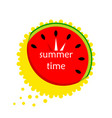 watermelon in the form of a clock icon vector image vector image