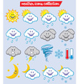 weather characters vector image