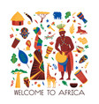 welcome to africa composition vector image vector image