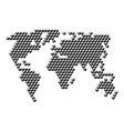 world map from 3d black cubes isometric abstract