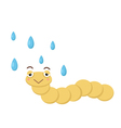 worm with rain vector image