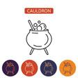 witch cauldron icon vector image