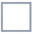 Decorative Greek frame for design vector image