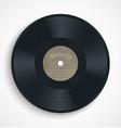Black vinyl record album disc with blank brown vector image