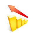 Business success growth graph chart with arrow and vector image