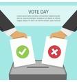 vote day vector image