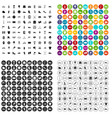 100 sneakers icons set variant vector image vector image