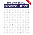 100 Universal Icons vector image vector image