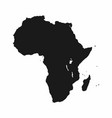 africa map monochrome continent icon vector image vector image