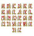Alphabet Art Nouveau vector image vector image