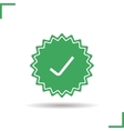 Approved sticker icon vector image vector image