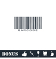 Bar code icon flat vector image vector image