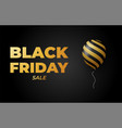 black friday sale banner minimal styles poster vector image vector image