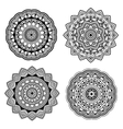 black indian mandala set vector image