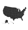 Blank map of USA vector image vector image
