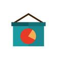board presentation diagram report business vector image