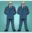 bodyguards cordon protection secret service agents vector image