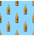 Brown Glass Beer Bottles Seamless Pattern vector image