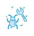 bugs icon design vector image vector image