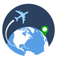 Business Travel Icon Flat style Isolated in vector image vector image