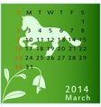 calendar 2014 march vector image vector image