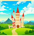 castle landscape palace fairytale kingdom magical vector image