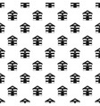 cat house pattern vector image vector image