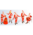 christmas and new year characters vector image vector image
