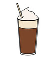 coffee shake with straw vector image vector image
