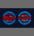 college ultimate typography graphic t shirt print vector image vector image
