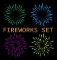 colorful fireworks set vector image vector image