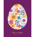 colorful oriental flowers Easter egg vector image vector image