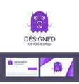 creative business card and logo template monster vector image