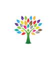 creative woman body tree logo vector image vector image