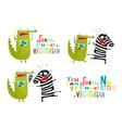crocodile and zebra fun vegetarian cartoon vector image