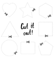 Cut it out flat template The scissors icon Cut vector image
